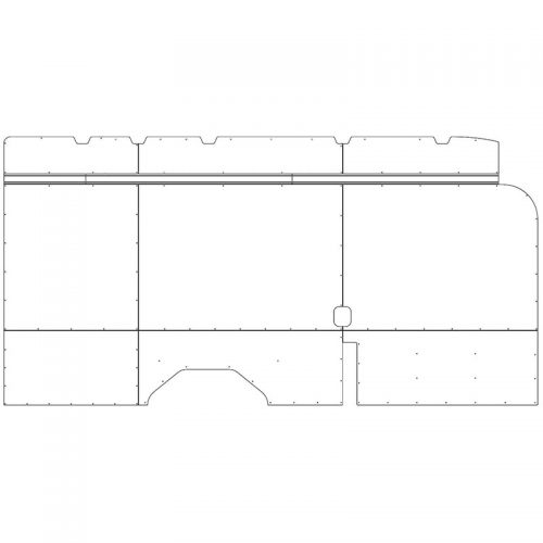 Transit Interior Wall Panels HR 148WB Ext. Driver-side