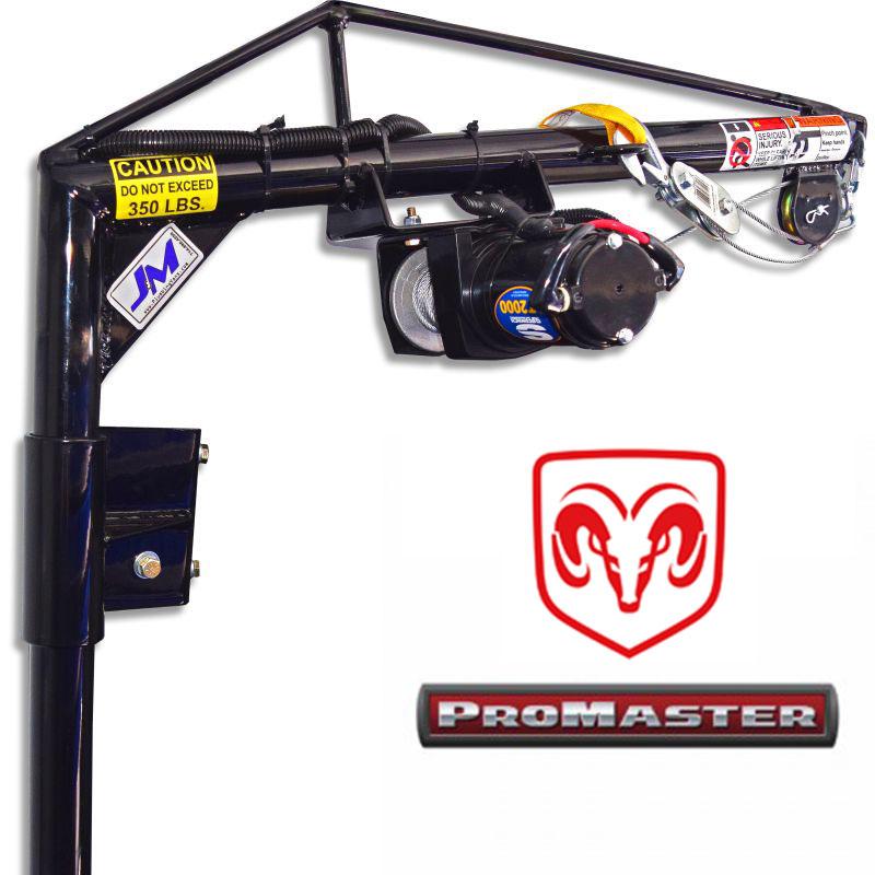 RAM ProMaster - High RoofRear Passenger-side DoorElectric Hoist KitSKU: 130034