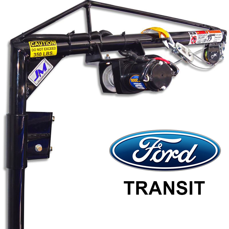 Ford Transit - High/Mid Roof Driver Side Door B-Pillar MountElectric Hoist KitSKU: 130046