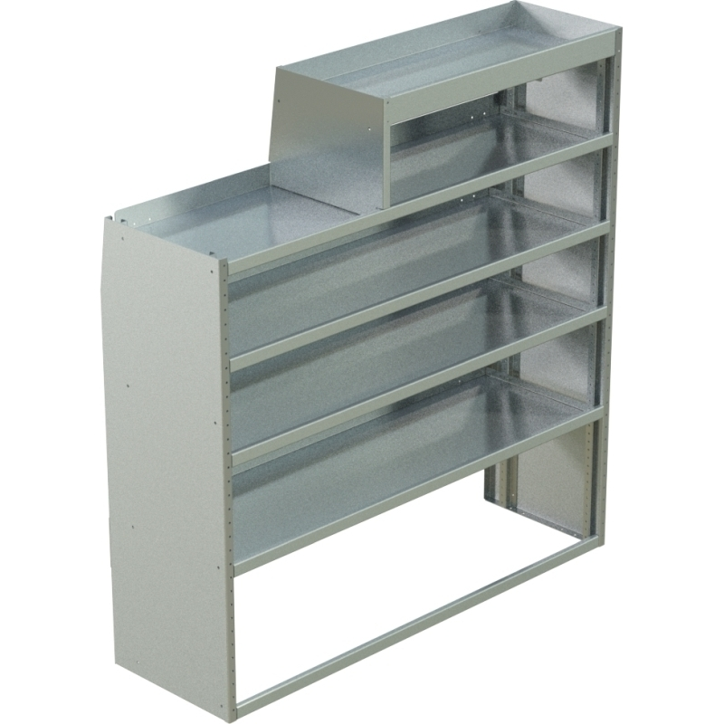 """Ford Transit Low RoofTapered Shelving Unit, LH Notched18""""D x 47""""H x 58""""LSKU: 360262"""
