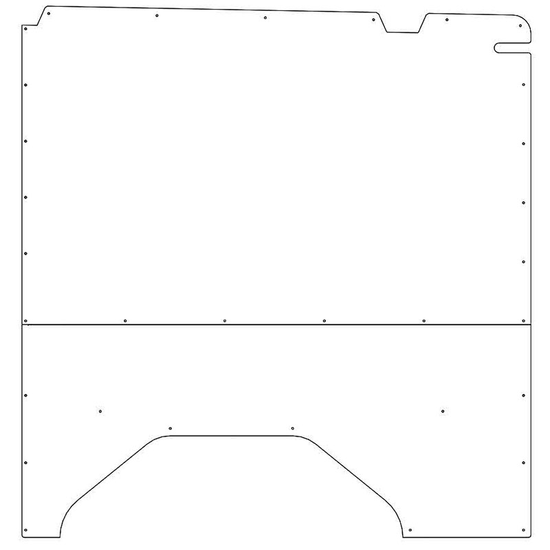 Transit Interior Wall Panels Low Roof 130WB Passenger-side